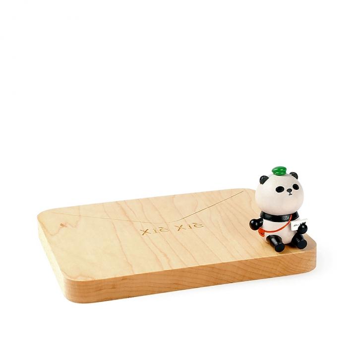 Wooden Coaster Panda postman熊貓杯墊 熊貓郵差
