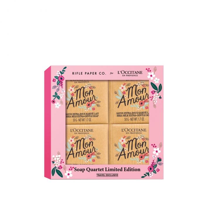SHEA DTS SOAP QUARTET歐舒丹 x RIFLE PAPER CO.乳木果香皂限定特惠組