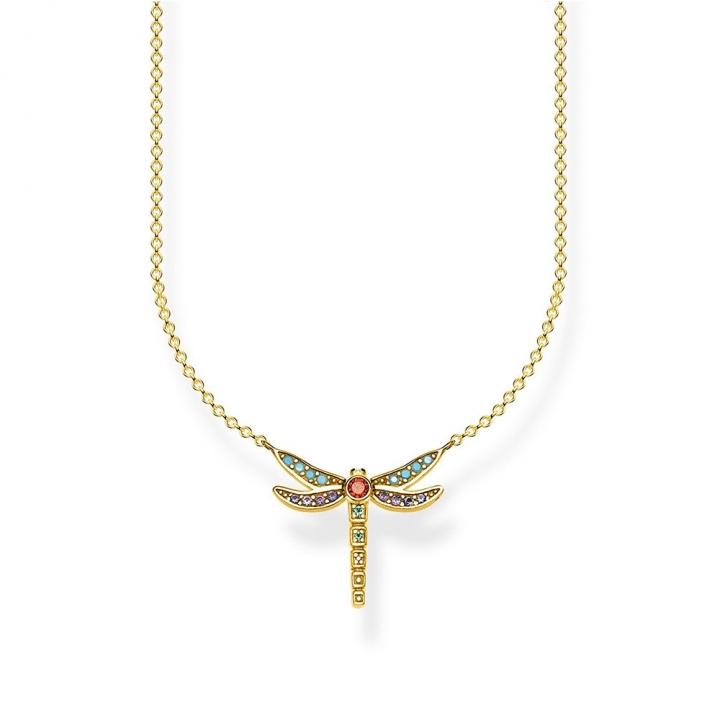 necklace dragonfly smallTS彩色蜻蜓金項鍊S