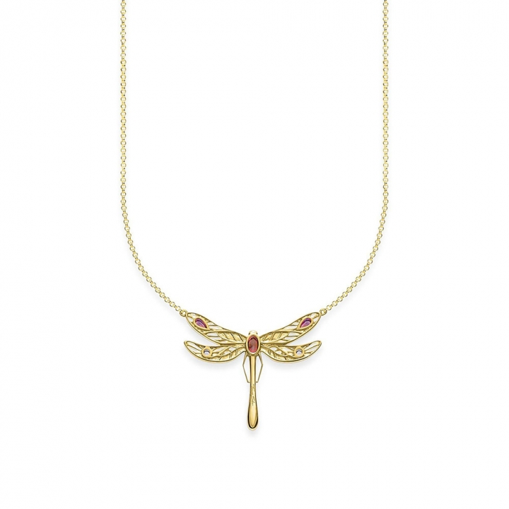 necklace dragonfly largeTS彩色蜻蜓金項鍊L