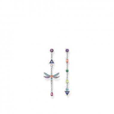 Thomas SaboThomas Sabo TS彩色蜻蜓不對稱長耳環