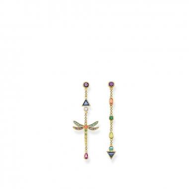 Thomas SaboThomas Sabo TS彩色蜻蜓不對稱長金耳環