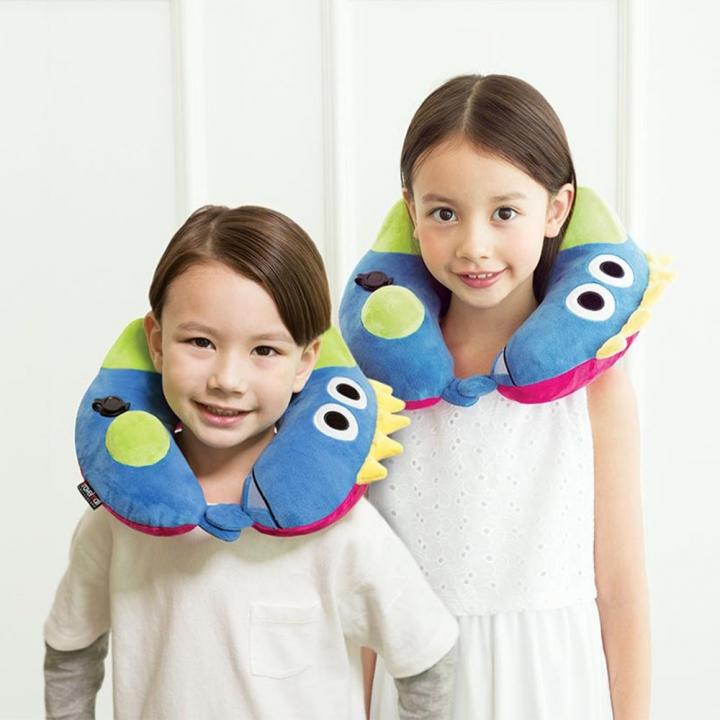 KID'S INFLATABLE NECK PILLOW兒童按壓式充氣頸枕 恐龍