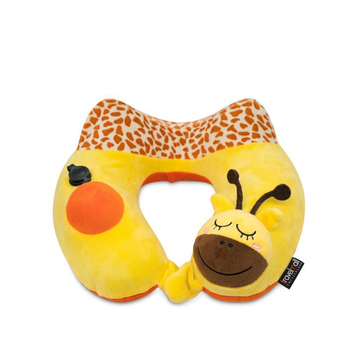 KID'S INFLATABLE NECK PILLOW兒童按壓式充氣頸枕 長頸鹿