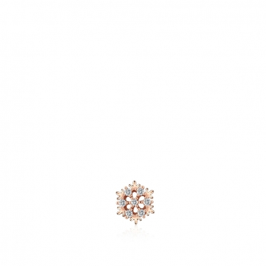 AGATHA璦嘉莎 Hiver玫瑰金耳環