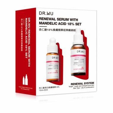 Dr.Wu達爾膚 杏仁酸18%煥膚精華經典暢銷特惠組