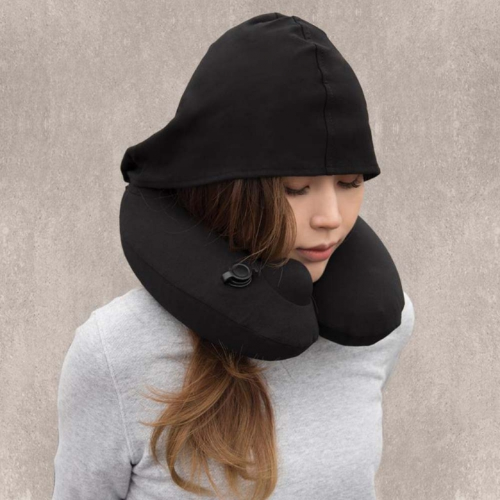 3D Massage Pillow專利3D按壓式充氣連帽枕