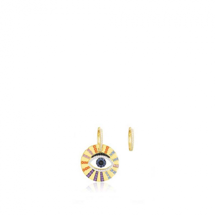 POP ART EarringsPOP ART鑲彩色眼睛金耳環