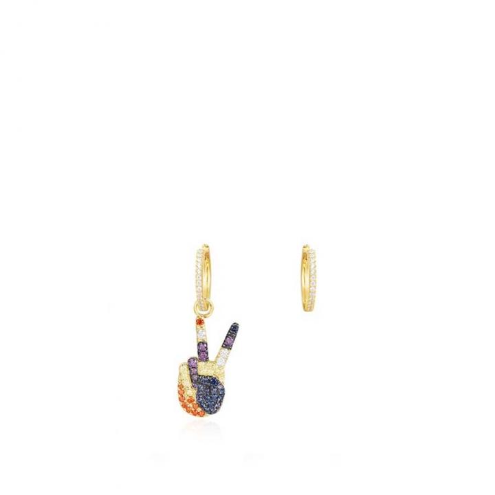 POP ART EarringsPOP ART鑲POP V金耳環