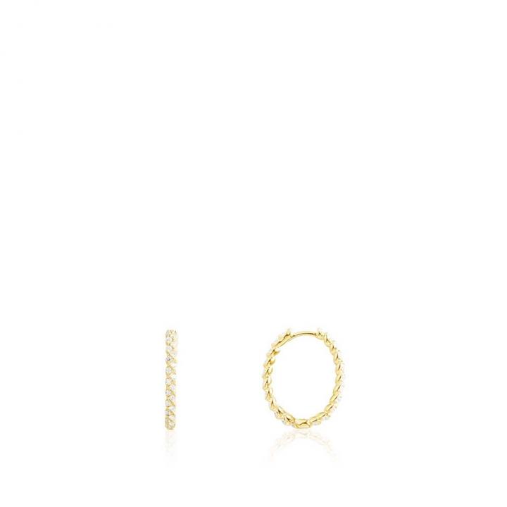 SOLEIL EarringsSOLEIL鑲麻繩圈形金耳環