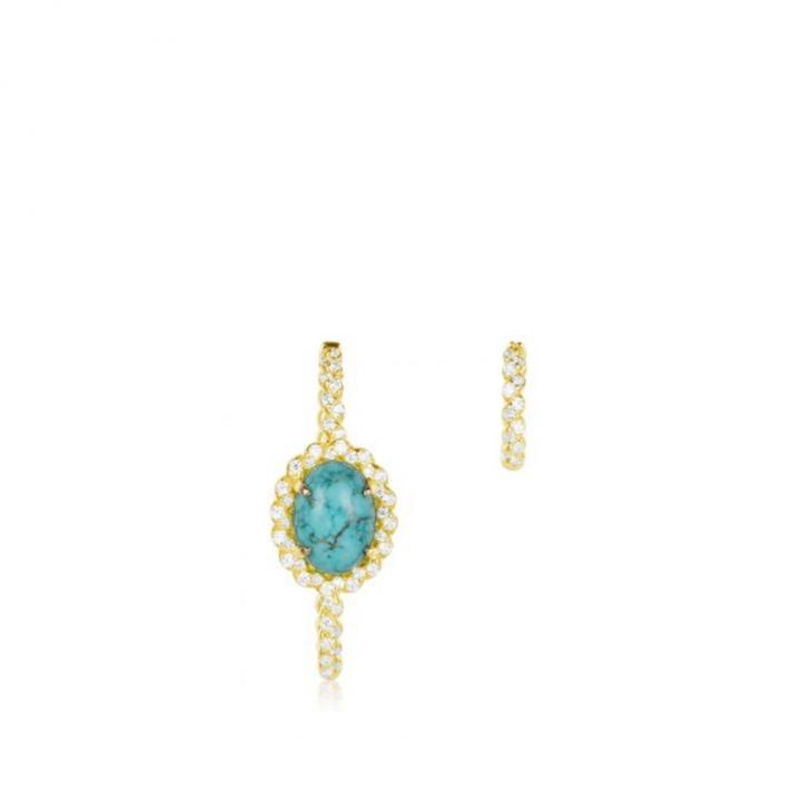 SOLEIL EarringsSOLEIL綠松石金耳環