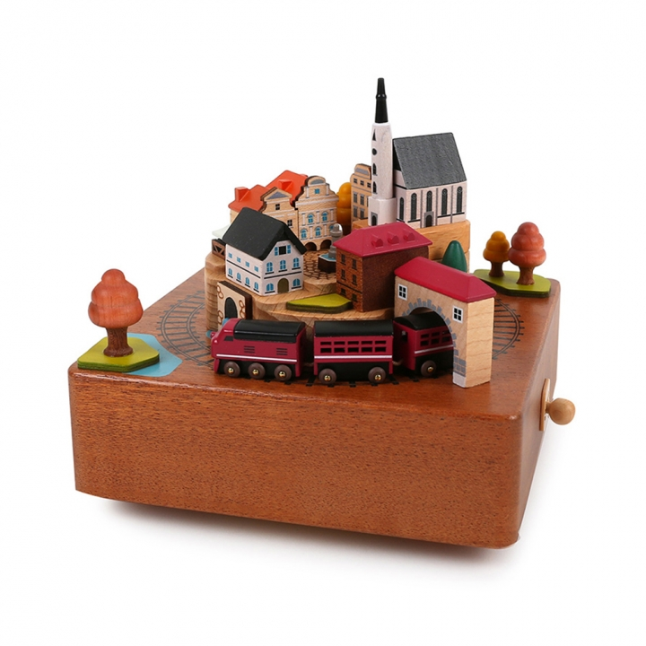 City Wooden Music Box - Autumn Train城市音樂鈴 秋季火車