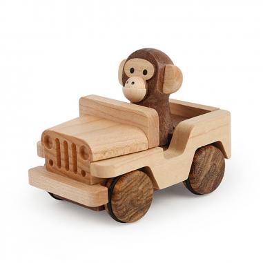 Jean Cultural知音文創 木育迴力車 吉普車猴子