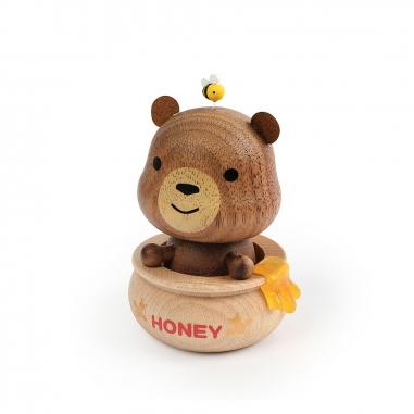 Jean Cultural知音文創 彈簧擺飾 蜂蜜熊