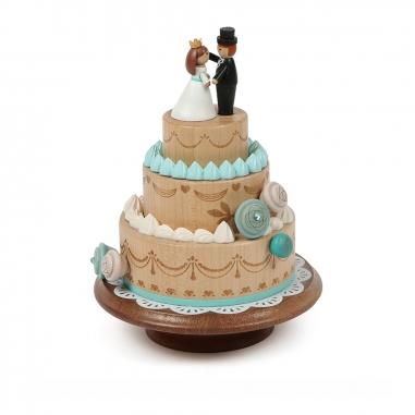 Jean Cultural知音文創 頭轉音樂鈴 三層結婚蛋糕