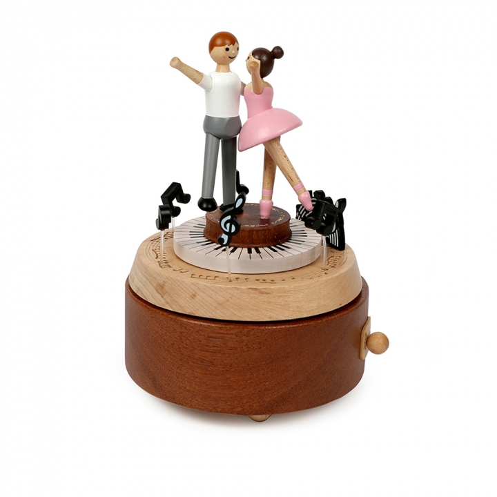 Double Rotate Music Box - Couple Ballet雙旋轉音樂鈴雙人共舞芭蕾