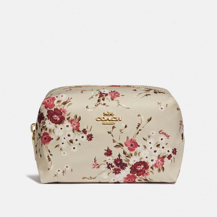 FLORAL BUNDLE SMALL BOXY COSMETIC CASE化粧包