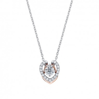 Ever Rich Jewelry昇恆昌珠寶 MEET U 心型鑽石項鍊