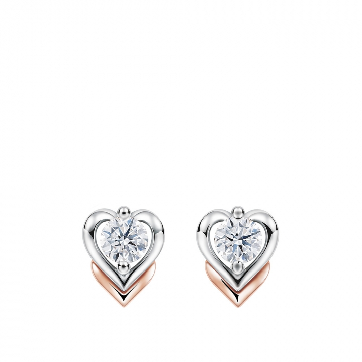 MEET U DIAMOND HEART EARRINGSMEET U 心型鑽石耳環
