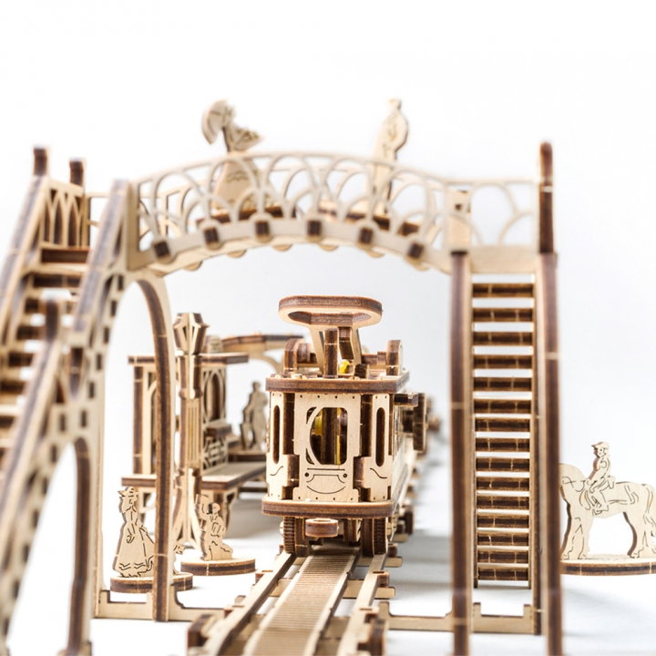 Ugears Tram Line.Mechanical Town SeriesUgears 機械小鎮—叮叮車車站