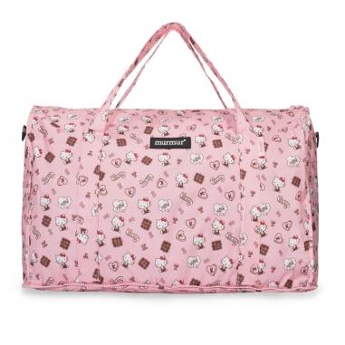 murmurmurmur Hello Kitty 粉紅收納旅行袋 (中)