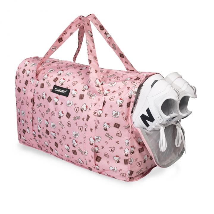 Hello Kitty 粉紅收納旅行袋 (中)