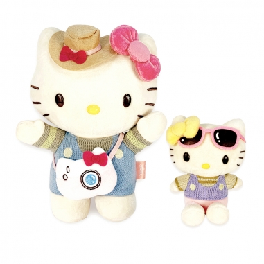 Hello KittyHello Kitty Hello Kitty 好姐妹大Kitty小Mimmy絨毛組
