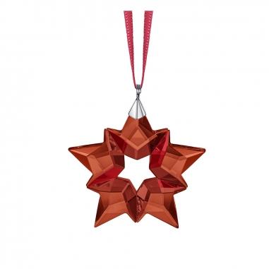 Swarovski施華洛世奇 《聖誕限定》小紅星雪花掛飾