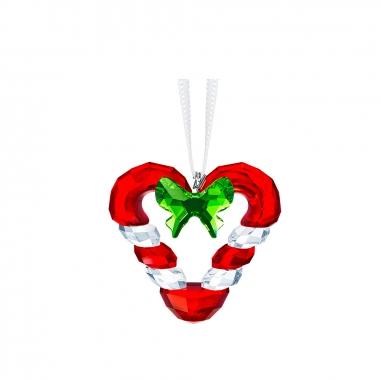 Swarovski施華洛世奇 心形拐杖糖吊飾