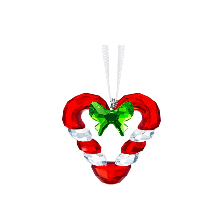 CANDY CANE HEART ORNAMENT心形拐杖糖吊飾