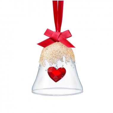 Swarovski施華洛世奇 愛心聖誕鈴吊飾