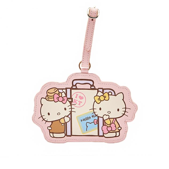 Hello Kitty 好姐妹行李吊牌 蜜桃橘