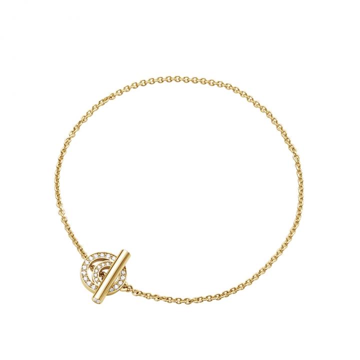 Halo 18K Yellow Gold Diamond Bracelet S/MHalo 18K黃金密鑲鑽手鍊S/M