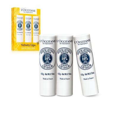 L'Occitane歐舒丹 乳木果滋潤護唇膏三支裝特惠組