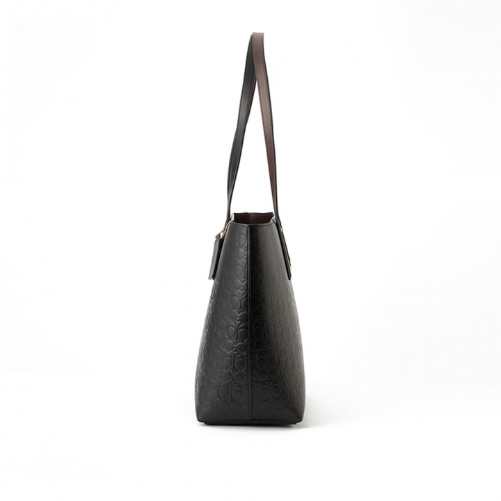 SIGNATURE LEATHER CENTRAL TOTE WITH ZIPSIGNATURE LEATHER托特包