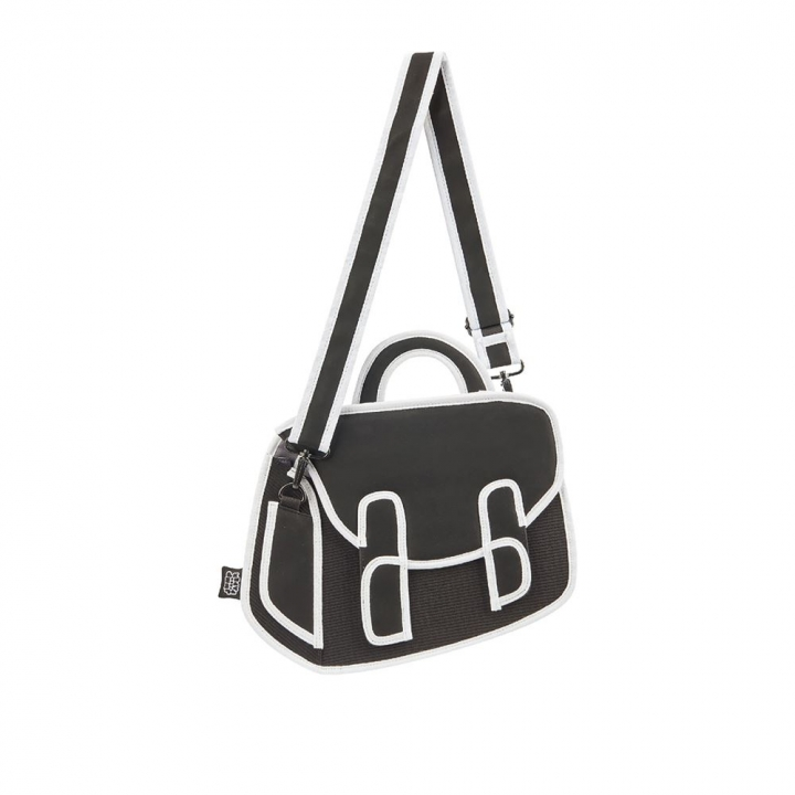 Graffiti Chubby Satchel  Black黑白漫畫邱比包 黑色