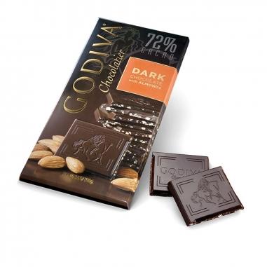 GodivaGodiva 72% 杏仁黑巧克力磚