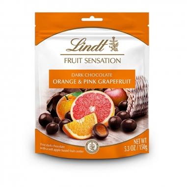 Lindt瑞士蓮 水果夾心黑巧克力球 熱情柑橘