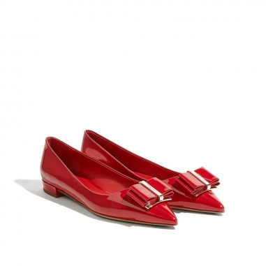 Salvatore Ferragamo費拉格慕 蝴蝶結芭蕾舞平底鞋