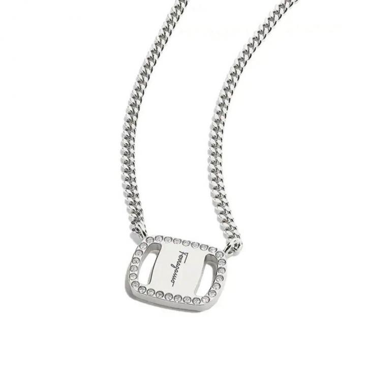 VARA ST11 NecklaceVARA PLATE鑲鑽項鍊