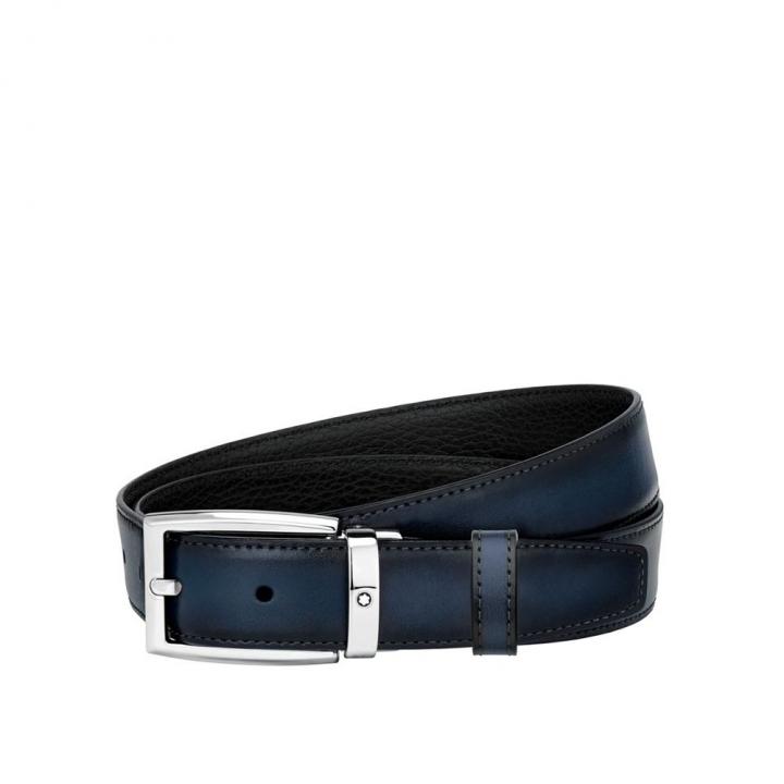 Black/blue reversible cut-to-size business belt黑色/藍色雙面可調尺寸商務皮帶