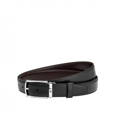 Montblanc萬寶龍(精品) 黑色/棕色雙面可調尺寸商務皮帶