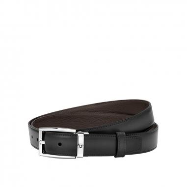 Montblanc萬寶龍(精品) 棕色/灰色雙面可調尺寸商務皮帶