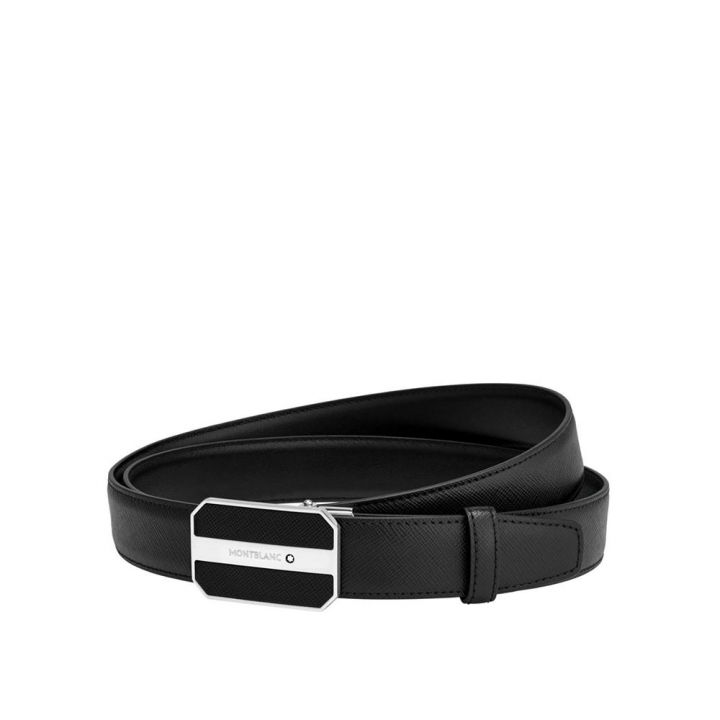 Black cut-to-size business belt黑色可調尺寸商務皮帶