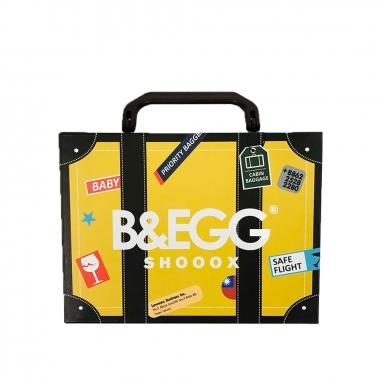 B&EGG蛋昇文化 童襪 黃色3雙組