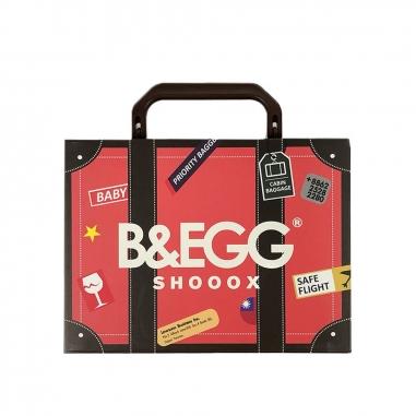 B&EGG蛋昇文化 童襪 紅色3雙組