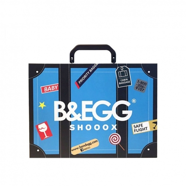 B&EGG蛋昇文化 童襪 藍色6雙組