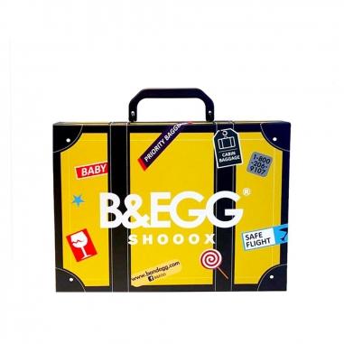 B&EGG蛋昇文化 童襪 黃色6雙組