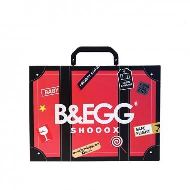 B&EGG蛋昇文化 童襪 紅色6雙組
