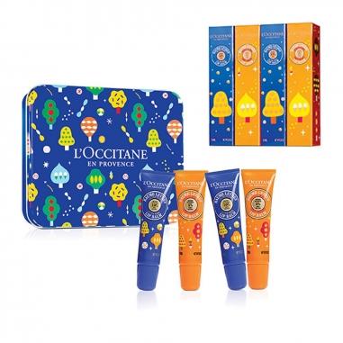 L'Occitane歐舒丹 《聖誕限定》夢想乳油木護唇膏鐵盒四支裝特惠組